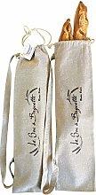 Rustic Baker Natural Linen Baguette Bread Bag,