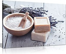 Rustic Bathroom Spa Art Soap Lavender Canvas Wall
