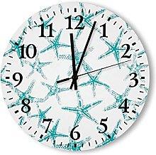 Rustic Beach Wall Clock Silent Non Ticking Quartz