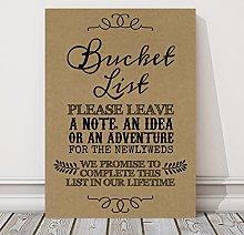 Rustic Bucket List Wedding Sign / Poster (CH3)