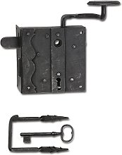 Rustic Lock Set Melk PZ, Right, DM 70, Wrought