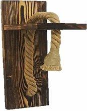 Rustic Modern Wall lamp Sconce Hemp Rope Vintage
