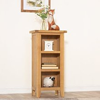 Rustic Oak Small Narrow Bookcase