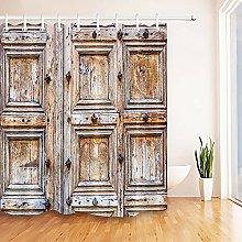 Rustic old wooden door theme High-definition