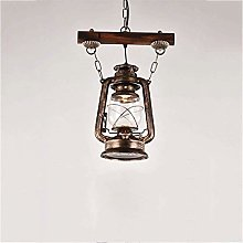 Rustic Pendant Lighting Lantern Hanging Glass