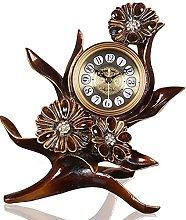 Rustic Resin Table Top Clock Detail Industrial