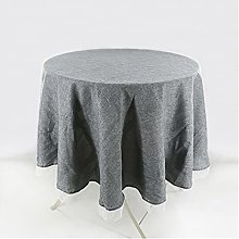 Rustic Round Tablecloth Gray Cotton Linen Table