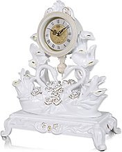 Rustic Shelf Clock (Quiet) For Bedroom Table Or