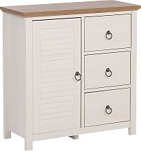 Rustic Sideboard Cabinet with 3 Drawers Engineered