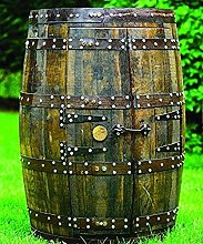 Rustic Solid Oak Whisky Barrel Drinks Cabinet |