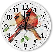 Rustic Wall Clock Battery Operated Silent Non