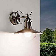 Rustic Wall Light in Silver IP44 Stainless Steel