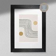 Rustic Waves Wall Art Print - Rustic Art | Retro