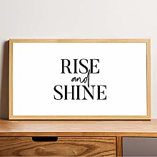Rustic wood sign -Rise and Shine sign Wall Art
