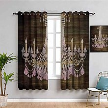 Rustic Wooden Kitchen curtain Planks Crystal
