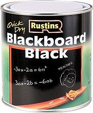 Rustins Quick Dry Matt Blackboard Paint 1L