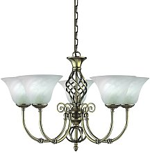 Rutland 5-Light Shaded Chandelier ClassicLiving