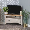 Rutland Painted Oak Corner TV Unit