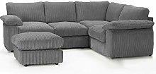 Ruxley Large Fabric 4 Seater Corner Sofa - 2