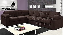 Ruxley Large Fabric 6 Seater Corner Sofa - 2