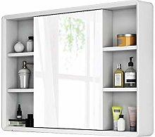 RXDP 90cm Bathroom Mirror Cabinet, Wall-Mounted