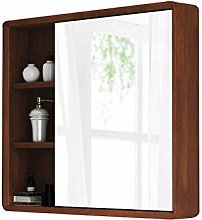 RXDP Bathroom Mirror Cabinet, Wall-Mounted Solid
