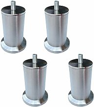 RXDP Furniture Legs (4 Pieces), Stainless Steel