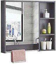 RXDP Solid Wood Bathroom Mirror Cabinet,