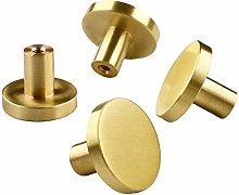 RXING 8pcs Round Wardrobe Handles Gold Cabinet