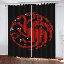 RXWZRL Blackout Curtains Eyelet 100X214cm 2