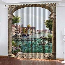 RXWZRL Blackout Curtains Eyelet 117X230cm 2