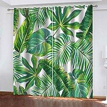 RXWZRL Blackout Curtains Eyelet 132X214cm 2