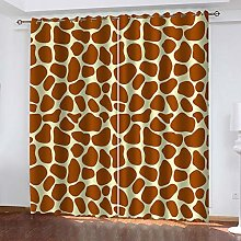 RXWZRL Blackout Curtains For Bedroom 100X214cm 3D