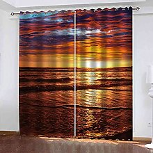 RXWZRL Blackout Curtains For Bedroom 150X270Cm 3D