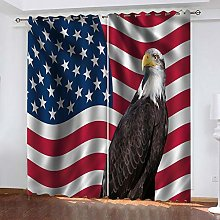 RXWZRL Blackout Curtains For Bedroom 3D American