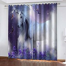 RXWZRL Blackout Curtains For Bedroom 3D Fantasy