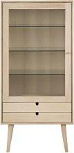 Ryann Display Cabinet Isabelline