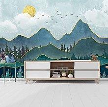 rylryl 3D Mural Wallpaper Nordic Minimalist