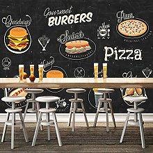 rylryl 3D Photo Wallpaper Burger Pizza Fast Food