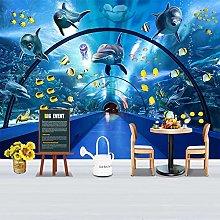 rylryl Glass Tunnel Mural Underwater World Dolphin