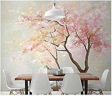 rylryl Modern Abstract Art Wallpaper 3D Pink Leaf