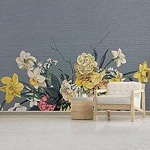 rylryl Mural Wallpaper Retro Flower Rose Stone