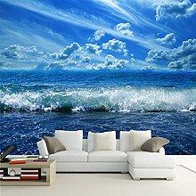 rylryl Natural Scenery Wallpaper Blue Sky Ocean