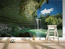 rylryl Natural Scenery Wallpaper Waterfall Cave