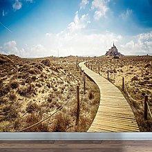 rylryl Natural Scenery Wallpaper Wooden Bridge
