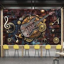 rylryl Retro Industrial Style 3D Wallpaper Bronze