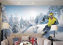 rylryl Wallpaper 3D Skiing Snow Sports Winter Snow