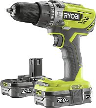 Ryobi ONE+ 2Ah Cordless Combi Drill with 2