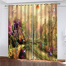 RYQRP Blackout Curtain for Bedroom Fairy Forest