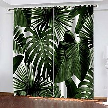 RYQRP Eyelet Blackout Curtains Palm Leaves Photo